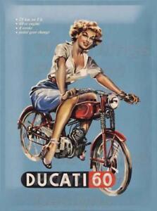 Plaque Ducati en métal