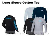 Shimano Long Sleeve Cotton Tee Shirt Medium-xxxlarge White Gray Black Navy