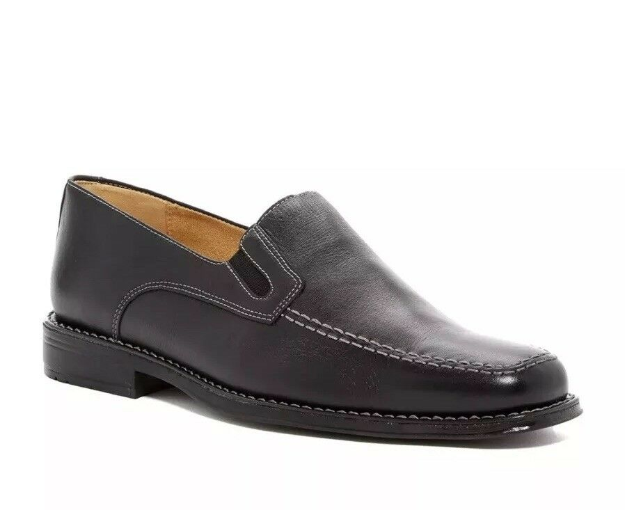 NIB Sandro Moscoloni Men's Jeffrey Loafer Slip on Genuine Leather Dress shoes