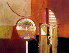 Diana Hansen, Masks X, Hand Painted Fine Art Print Artwork Submit an Offer!