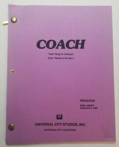 "COACH / Frank Dungan 1996 TV Script, Craig T. Nelson ""Last Tango in Orlando"""