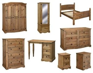 Image Is Loading Premium Quality Corona Mexican Bedroom Furniture  Wardrobes Drawers