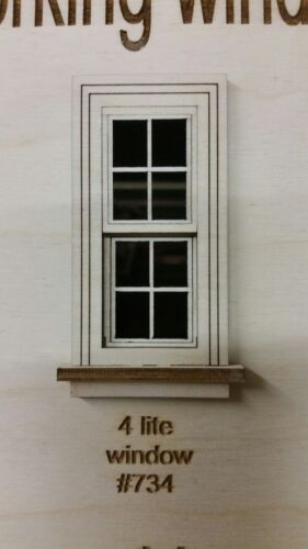 Working Traditional Window// 4 lite window pane design 1:24 scale