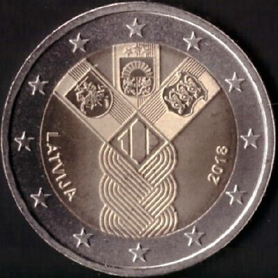 "ESTONIA 2 euro 2018 /""100 YEARS OF INDEPENDENCE OF ESTONIA/"" UNC BI-METALLIC"