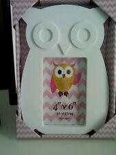 COPPIA di grandi dimensioni 2 di White Owl foto cornice shabby chic muro appendere casa regalo