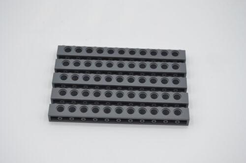 LEGO 5 x Technik Technic Lochstein 1x12 neues dunkelgrau newdark grey 3895