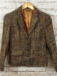 E5 marrone Blazer Flaw Jacket Womens Size Boucle 2 Mclaughlin bordeaux J 0z5qvv