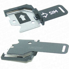 For Nokia Lumia 620 SIM Card Holder Tray Plate Replacement Black - OEM