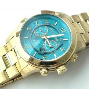 ad328c387cc6 Image is loading NEW-Authentic-Michael-Kors-Hunger-Stop-Oversized-Gold-