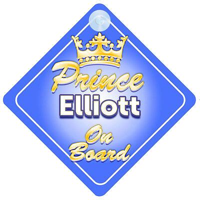 2019 Moda Principe Ereditario Elliott A Bordo Personalizzata Baby Boy Auto Firmare-