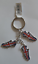 thumbnail 1 - Union Jack Football Boot 3 Charm Keyring. Great Gift Idea
