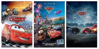 Disney Pixar Cars 1 2 3 Poster Canvas 11 X 17 Set Mset44 Ebay