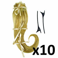 Hair Extensions Clip In 2 Piece Ken Paves Hairdo Ginger Blonde Fashion 16 X10