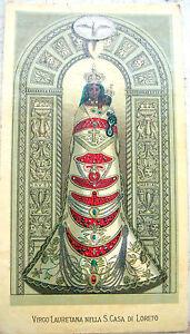 1890 BEATA VERGINE DI LORETO INCISIONE IN CROMOLITOGRAFIA A COLORI