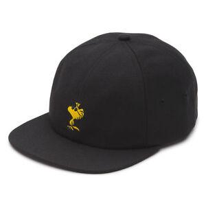 9df1c8a7 VANS x PEANUTS Woodstock Mens Hat (NEW) Black Jockey Cap Strapback ...