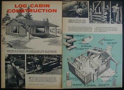 De Goedkoopste Prijs Log Cabin Construction Building 1958 How-to Info