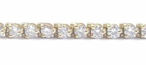 Round-Cut-NATURAL-Diamond-Yellow-Gold-3-Prong-44-Stone-Tennis-Bracelet-5-00Ct