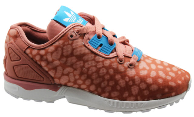 c23cef6ecc4e Adidas Originals ZX Flux Decon Womens Trainers Pink Shoes Lace Up B34030 WH