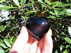 Black-Sheen-Obsidian-Heart-Prosperity-Protective-Energy-Scrying-Gazing-GREAT