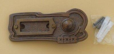 Antik Messing Alte Form Klingel 1 Türklingel Klingelschild Klingelplatte K94A
