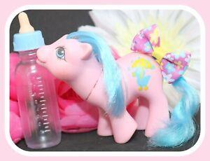 My-Little-Pony-MLP-G1-Vtg-Drink-n-Wet-Baby-Rainfeather-Blue-Mane-Duck-Cutie