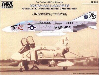 AOA Decals 1//32 F-4J PHANTOM II IN VIETNAM WAR VMFA-323 DEATH RATTLERS