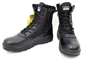 Black-Side-Zip-SWAT-Style-Boots-Cordura-Airsoft-Army-Combat-Assault-Boot-Cadet