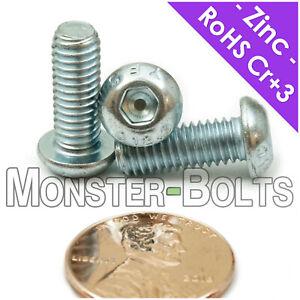 M6 x 16mm Button Head Socket Screws Allen Bolt Grade 12.9 ISO 7380