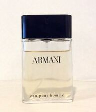 Giorgio Armani Eau Pour Homme 1 oz Eau De Toilette Spray for Men 85% Full R20