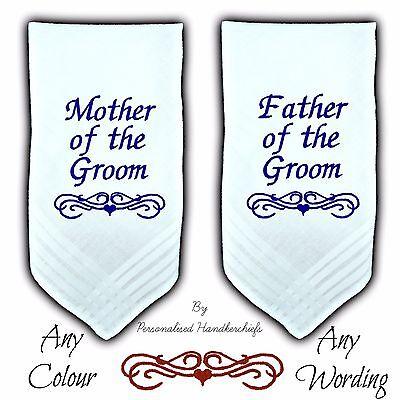 Capace Madre Dello Sposo Regalo Personalizzato Fazzoletto Padre Fazzoletto Da Matrimonio Favore-mostra Il Titolo Originale