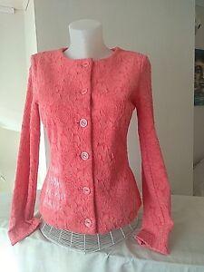 Ladies Jacket Rossler Size Uk Jacquard 18 Coral qdZwUCZ