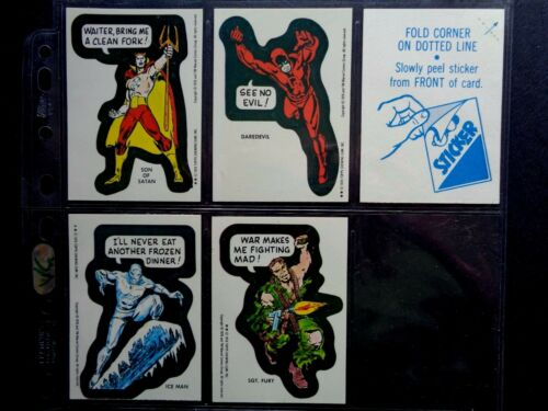**© VERSION TOPPS VG *PICK THE CARDS YOU NEED* MARVEL SUPER HEROES 1976