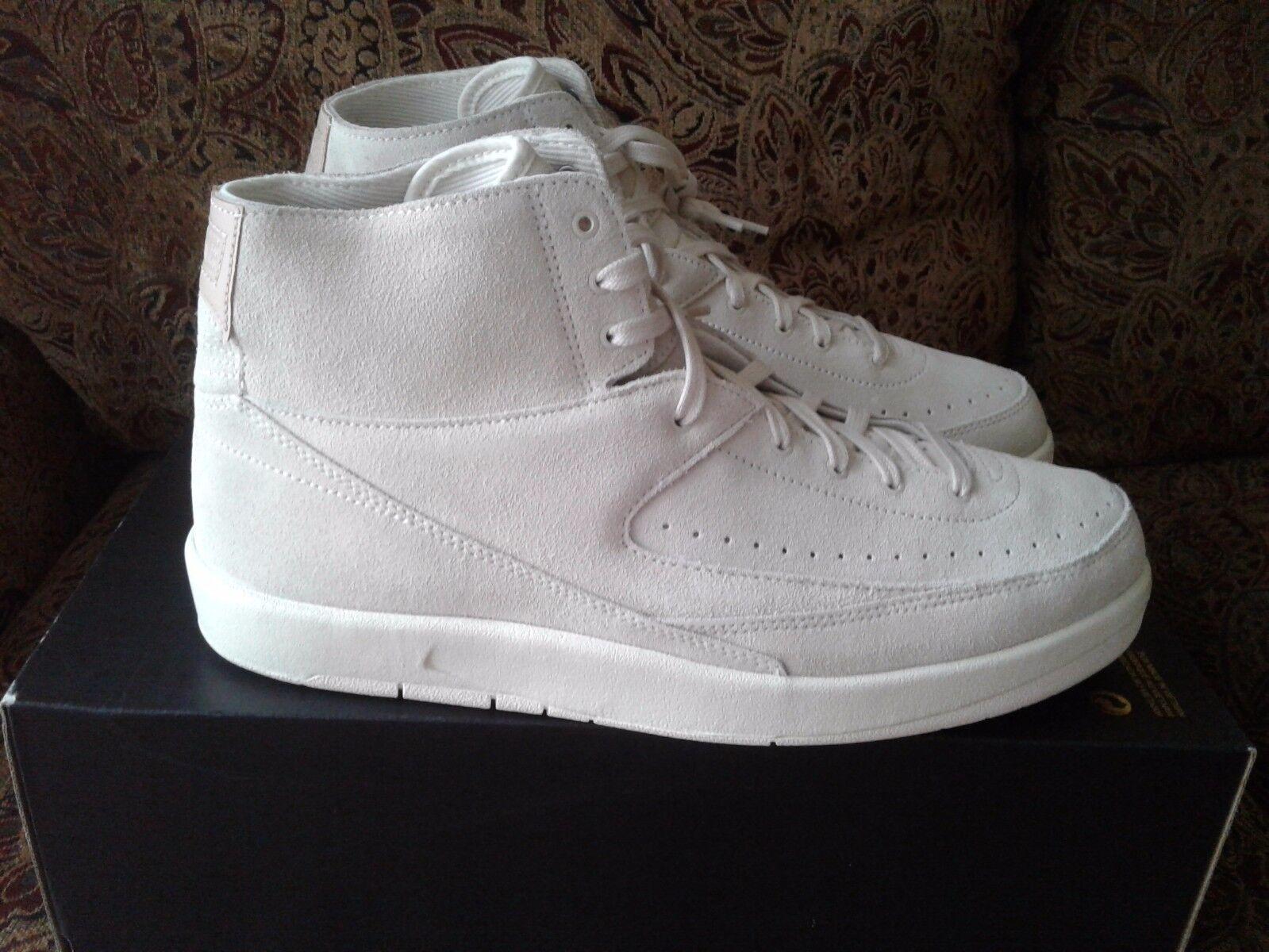 Nike Air Jordan 2 Retro Decon Beige Suede 897521-100 Size 11