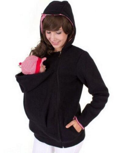 Mama Baby Mantel Damen Babytragen Tragejacke Tragepullover Kapuzenpullover Jacke