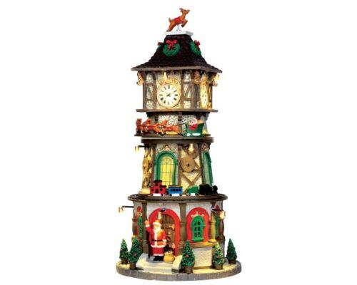 Weihnchtsdorf Winterdorf Modellbau LEMAX Christmas Clock Tower