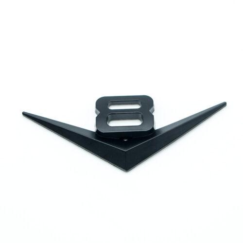 Matte Black Metal 8V V8 Car Trunk Emblem Auto Sport Turbo Engine Logo Badge