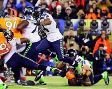 MARSHAWN LYNCH 2014 Super Bowl XLVIII Seattle Seahawks LICENSED 8x10 photo