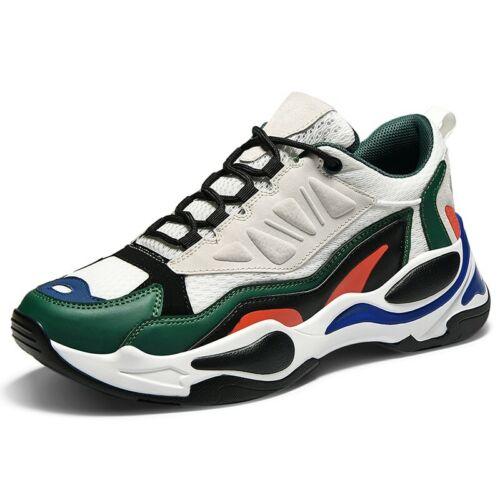 Athlétique Casual Lacets Toe Hommes Sneaker Plateforme Respirant Chaussure Talon Lacet Compensé eWdBrQxoC