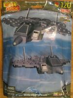 Best Lock Military Stealth Fighter Airplane With 2 Mini Figures 120 Pieces