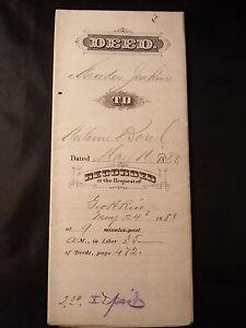 Antique PROPERTY DEED 1883 ANTOINE BOREL & JENKINS SAN MATEO CA