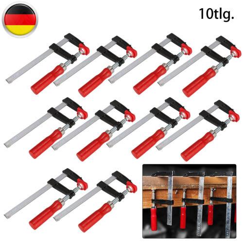 5//10 X Schraubzwingen-Set 50//120mm Temperguß Spannzwinge Leimzwinge Klemmzwinge