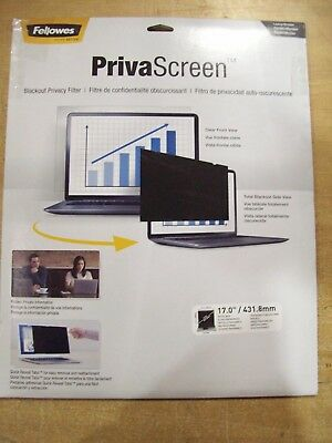 Laptop//LCD,Black FELLOWES 4800001 Privacy Filter,14.1in