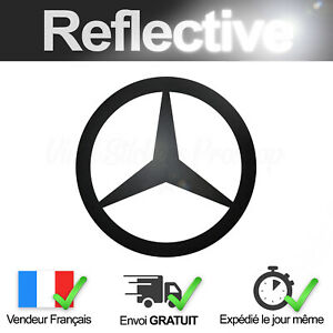 Sticker-MERCEDES-BENZ-Noir-Retro-Reflechissant-Autocollant-Logo-Black-Reflective
