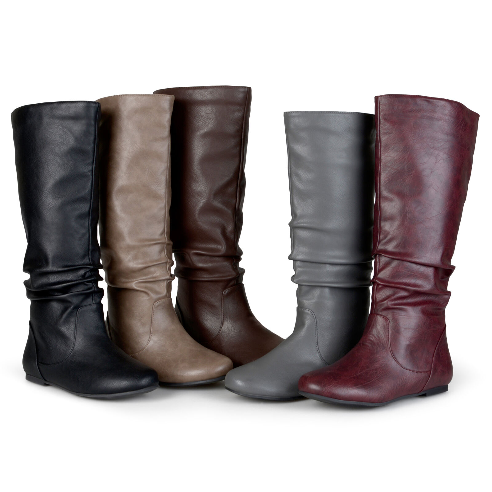 Journee Collection Womens Slouchy Round Toe Boots New