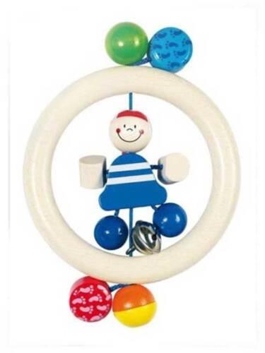 Baby Greifling Rassel Holz Babyrassel Babyspielzeug Ringrassel Heimess