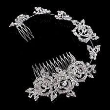 Silver Wedding Hair Comb Diamant Bridal Accessories Rhinestone Headpiece 1 Piece