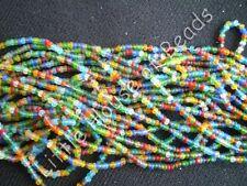 FULL HANK 12 STRAND Czech Glass Seeds Beads 11/0 = 2.1 mm ASSORTED COLOR MAT MIX