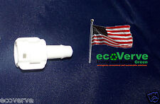 """White FEMALE 1/4"""" QUICK CONNECT ADAPTER for in-line filters such as Sawyer SP191"""