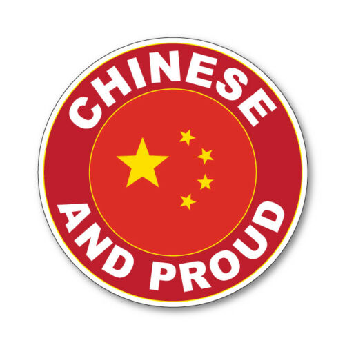 2 x CHINESE AND PROUD Flag Car Van Lorry vinyl Self Adhesive stickers