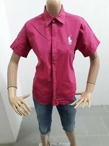 Camicia-RALPH-LAUREN-Donna-Shirt-Woman-Chemise-Femme-Taglia-size-10-Cotone-8478
